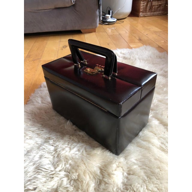 Mid 20th Century Vintage Travelling Leather Vanity Case, 1960-1970 by Asprey For Sale - Image 12 of 12