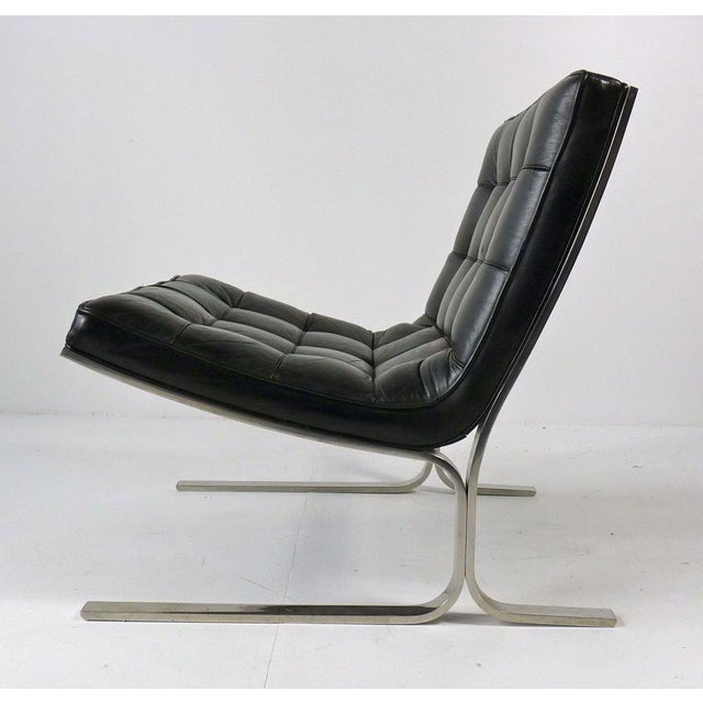 Nicos Zographos Black Leather Lounge Chair - Image 2 of 6