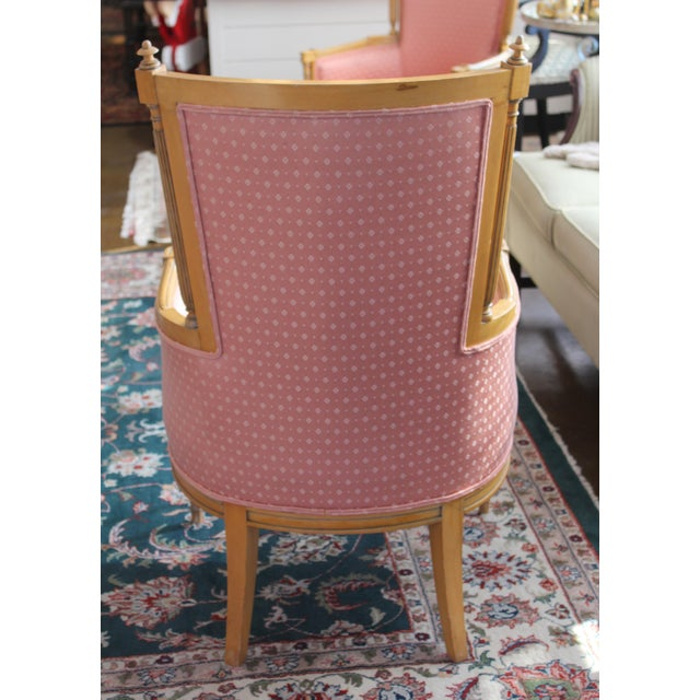 Vintage Salmon Armchairs - A Pair - Image 3 of 8
