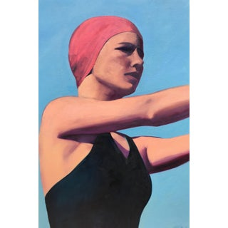 """Contemporary Figurative Painting """"The Diver"""" by T.S. Harris"""