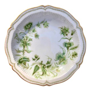 French Limoges Gilt Floral Porcelain Coaster Dish For Sale