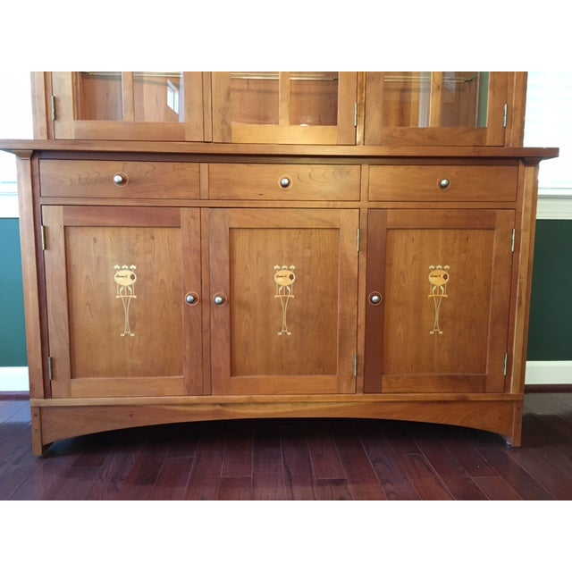 Stickley Harvey Ellis Cherry Buffet & China Hutch - Image 5 of 9