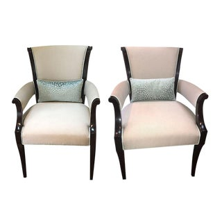 Custom Baker Dining Chairs - A Pair