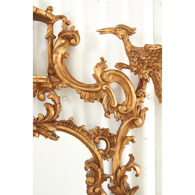 Pair of Chinese Chippendale Style Pagoda Mirrors With Ho Ho Birds For Sale - Image 9 of 13