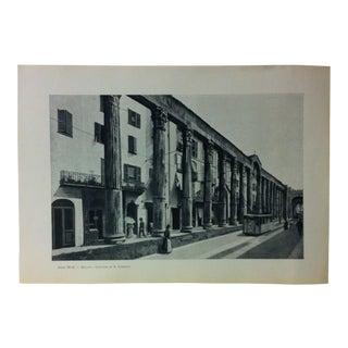 """Circa 1930 """"Colonne Di S. Lorenzo"""" Print of Milano Italy For Sale"""