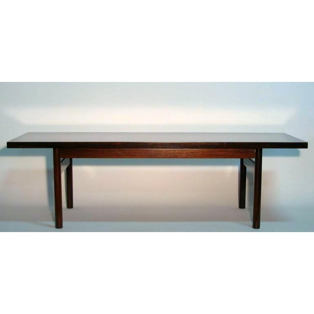 Modern Rosewood Coffee Table with Extending Top - Image 3 of 8