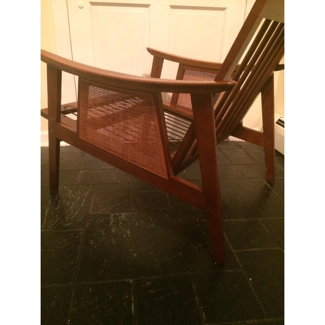 Mid-Century Low-Slung Wood Arm Chair For Sale - Image 5 of 11