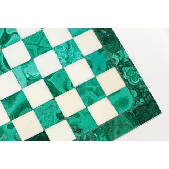 Art Deco Vintage Malachite and Calcite Miniature Chess Set For Sale - Image 3 of 9