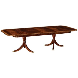 Regency Jonathan Charles Two Leaf Mahogany Extending Dining Table For Sale