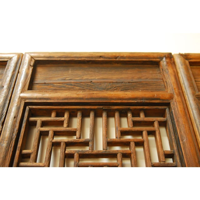 Chinese Lattice Panel Doors - Set of 4 For Sale - Image 7 of 10