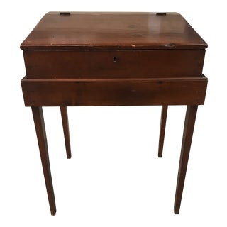 1900s Americana Slant Top Schoolmaster's Desk