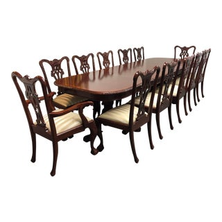 Traditional Mahogany Dining Table + Chairs Set