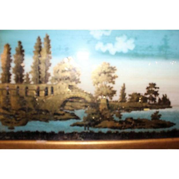 19th C. Empire Églomisé Reverse Painted Mirror - Image 2 of 2