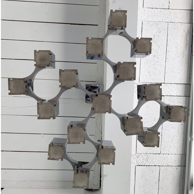 1970s Chandelier Cubic by Sciolari, Italy, 1970s For Sale - Image 5 of 11