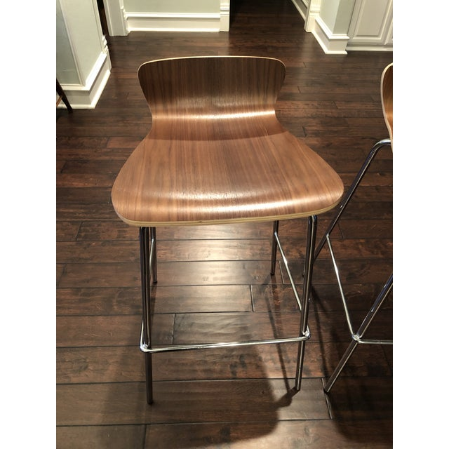 7596d4c04e6 Contemporary Crate   Barrel Felix Bar Stools - A Pair For Sale - Image 3 of