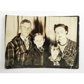 Vintage Snapshot 1930's Family Portrait Americana Preview
