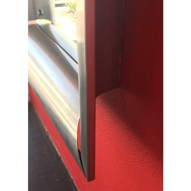 Metal Mid-Century Italian Space Age Rectangular Mirrors For Sale - Image 7 of 9