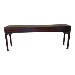 1990s Asian Console Table For Sale