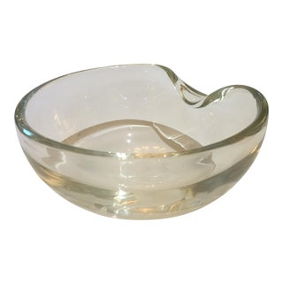 Elsa Peretti Thumbprint Bowl for Tiffany & Co. Clear Glass 7 X 3.5h For Sale