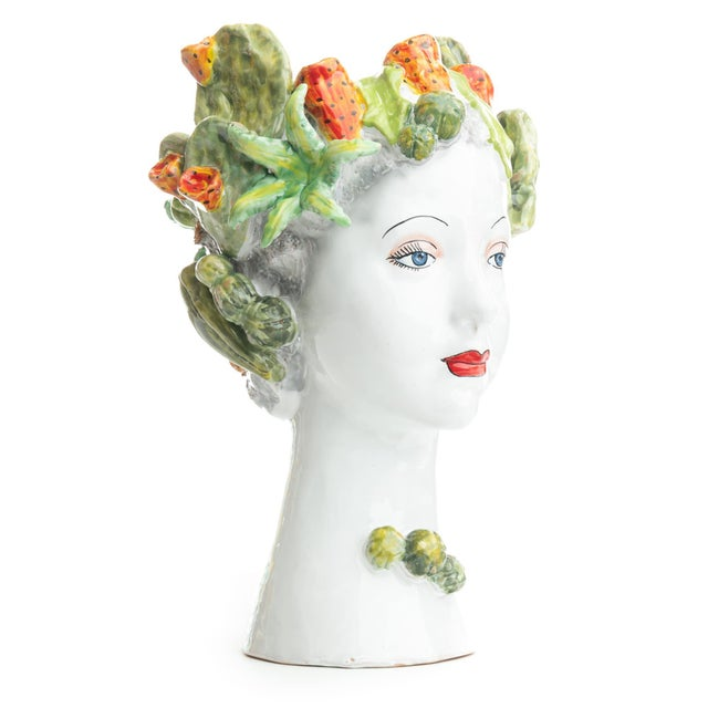 Sculpture with Succulents, Ceramiche D'arte Dolfi For Sale - Image 4 of 12