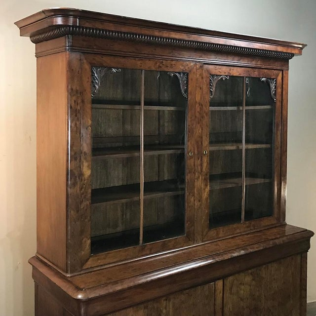 Mid-19th Century Louis Philippe Mahogany Bookcase For Sale - Image 9 of 11
