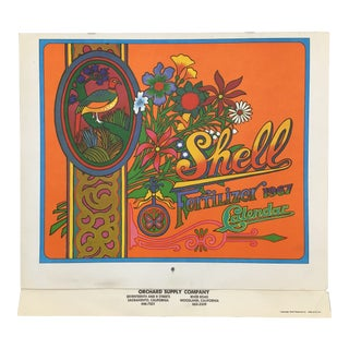 1967 Americana Shell One Year Calendar by Lowell Herrero For Sale