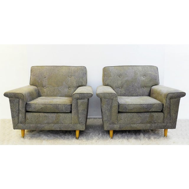 Pair of American Armchairs, Rowe - New Upholstery by Pierre Frey Collection For Sale - Image 6 of 6