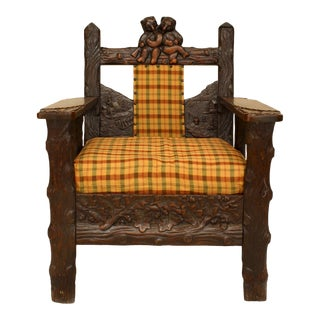Black Forest Oak Arm Chair For Sale
