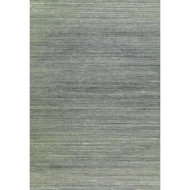 Contemporary Schumacher X Celerie Kemble Haiku Sisal Wallpaper in Charcoal For Sale - Image 3 of 3