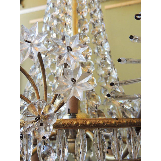 Early 20th Century Early 20th C French Bronze and Crystal Chandelier For Sale - Image 5 of 8