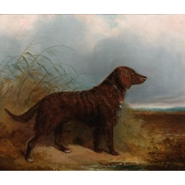 Impressionism 1853 Charles Bilger Spalding Irish Setter Original Oil Painting For Sale - Image 3 of 10