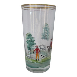 Hand Painted Equestrian Glass