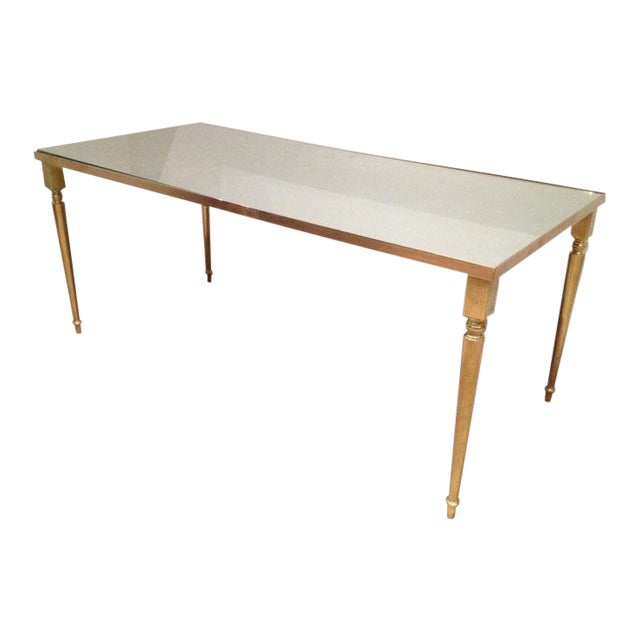 1960's Pair of Jansen Brass Coffee Tables For Sale - Image 9 of 10