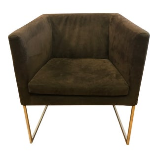 Early 21st Century Vintage B&B Italia Brown Suede Arm Chair For Sale