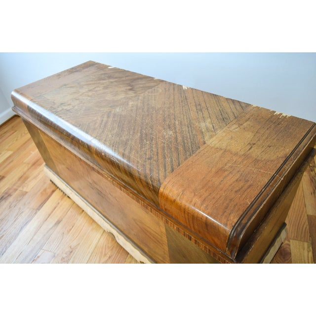 Art Deco Lane Cedar Chest Trunk - Image 8 of 9