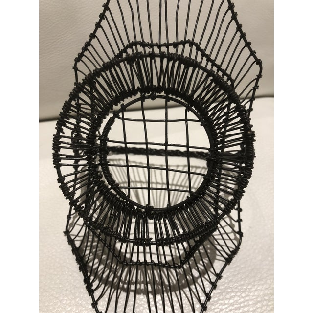 1930s French Wire Basket For Sale - Image 5 of 6