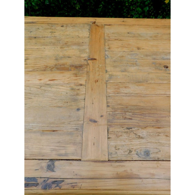 Palazzo Rustic Trestle Pine Dining Table For Sale In San Francisco - Image 6 of 12