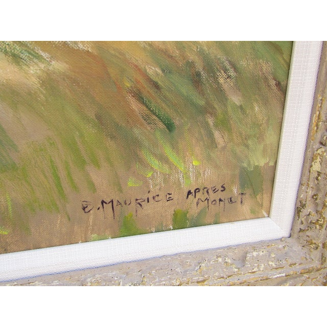 Eleanor Maurice Apres Monet Original Oil on Canvas For Sale - Image 4 of 5