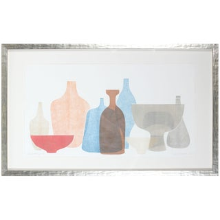 "Rob Delamater ""Chromatic Vessels V"" Abstracted Still Life 2018 For Sale"