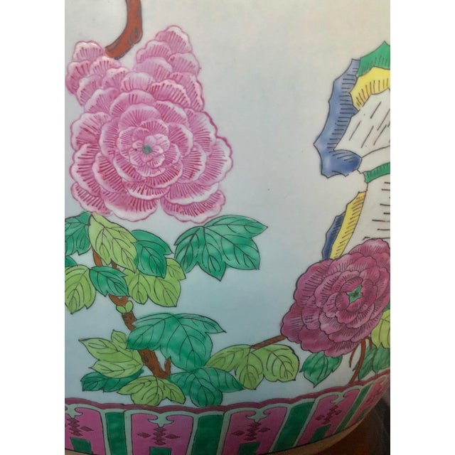 1970s Large Asian Fishbowl Planter For Sale - Image 5 of 9