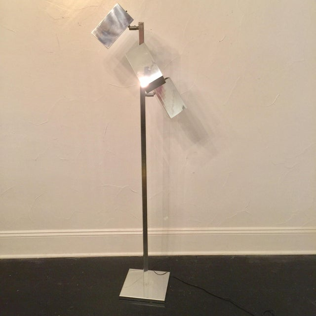 Koch & Lowey Chrome Floor Lamp - Image 2 of 5