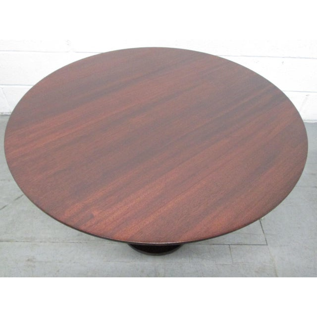 Barbara Barry occasional table for Baker Table is mahogany and has a refinished top. Inspired by LeLeu, a famed French...