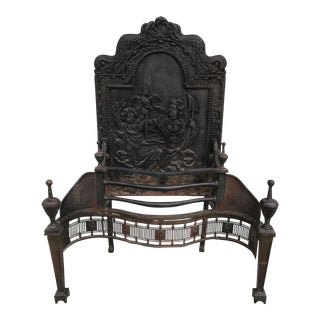 Cast Iron Coal Fireback