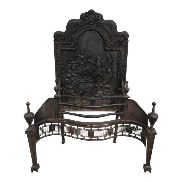 Cast Iron Coal Fireback For Sale