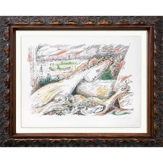 Andre Masson Hand Signed Ltd. Ed. 108 Original Lithograph W/Archival Frame For Sale