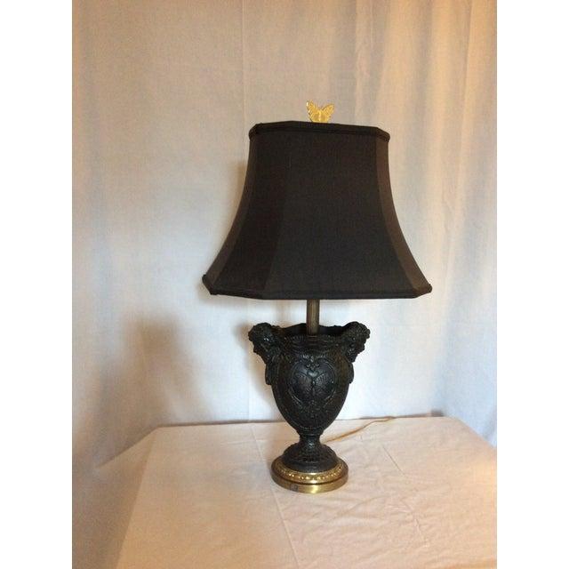 Basalt Urn Modified Custom Lamp For Sale - Image 13 of 13
