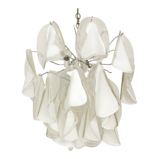 Italian Custom Blown Glass Modern Chandelier For Sale