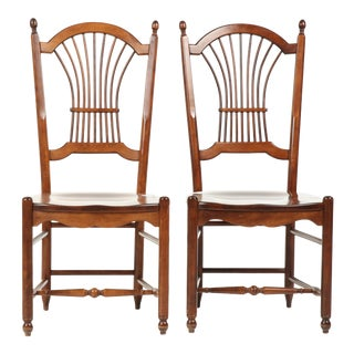 Nichols & Stone Wood Chairs - a Pair For Sale