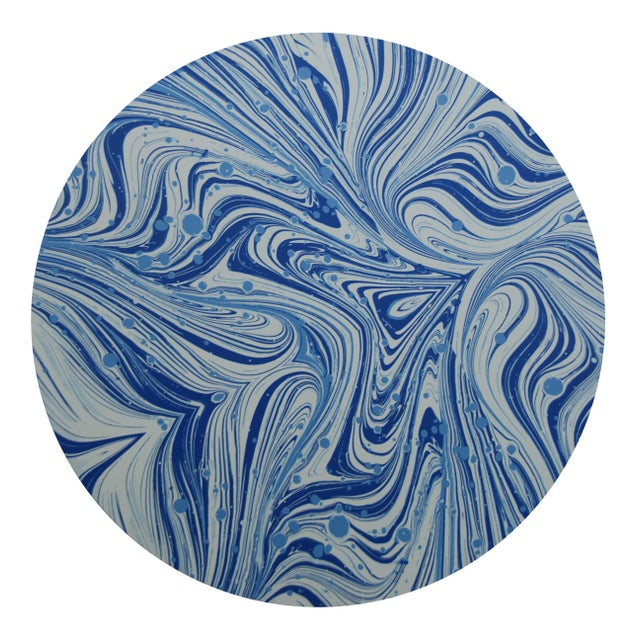 Contemporary Marble Placemat in French Blue For Sale - Image 3 of 3