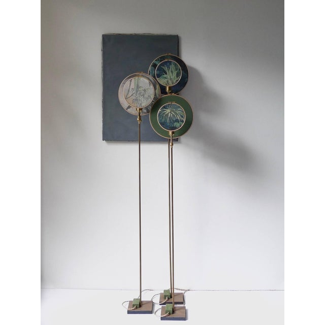 Modern Circle Blue Grey, Floor Lamp by Sander Bottinga For Sale - Image 3 of 8